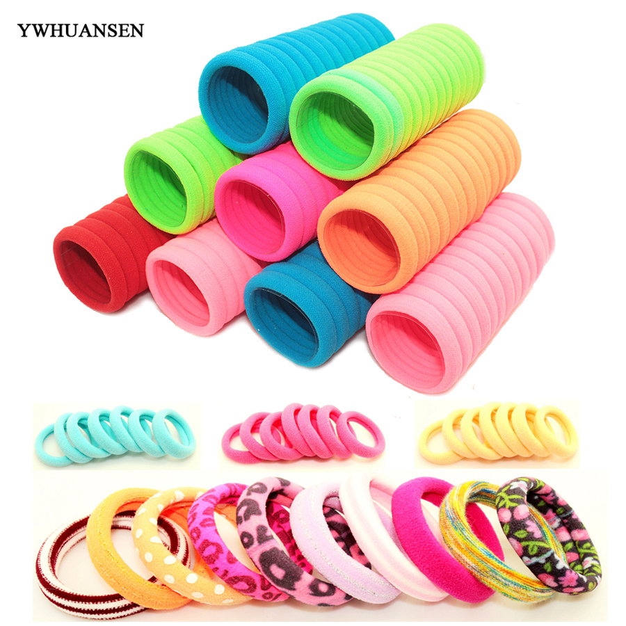 YWHUANSEN 40pcs lot Hair Accessories for girls Scrunchies Elastic Hair Bands children decorations Headdress Gum for hair ties