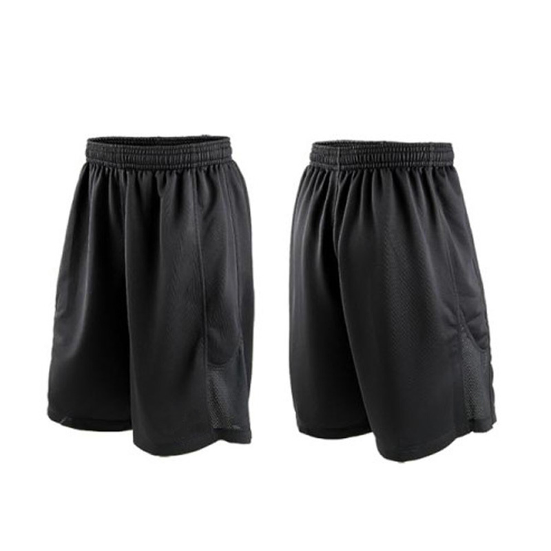 Levné hvězdy Černé basketbalové šortky Rychlé suché prodyšné tréninkové košile Jersey Sport Running Shorts Men Sportovní oblečení