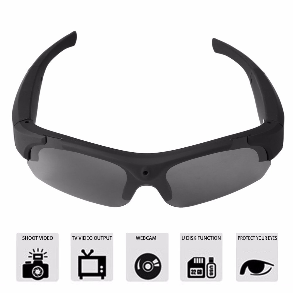 Sunglasses-Camera Camcorder Interchangeable Sport 1080P Eyewear HD Polarized-Lenses title=