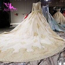 AIJINGYU ฤดูร้อนชุดแต่งงาน Gowns Robe ลอนดอนโบราณ Weddingdress ชุดลูกไม้ราคาแพงชุดแต่งงาน