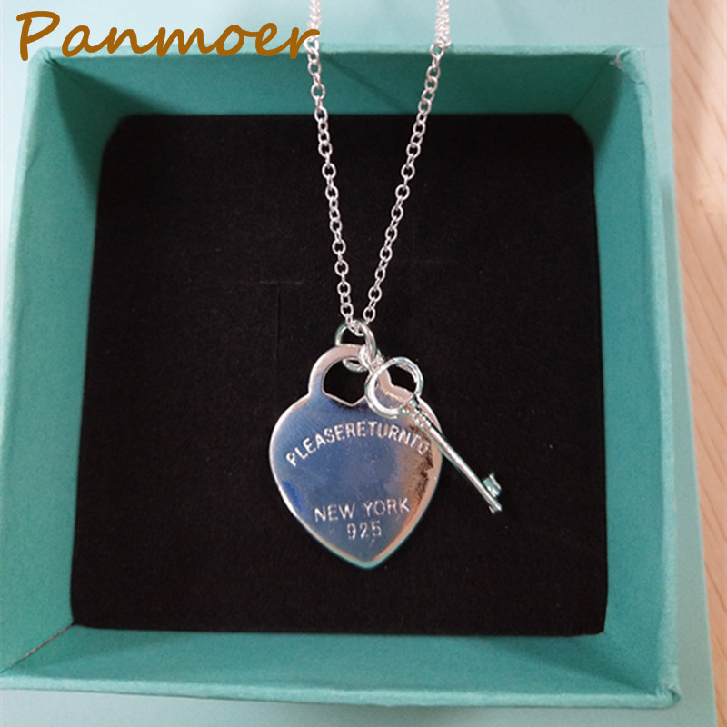 Brand fashion silver plated necklace for