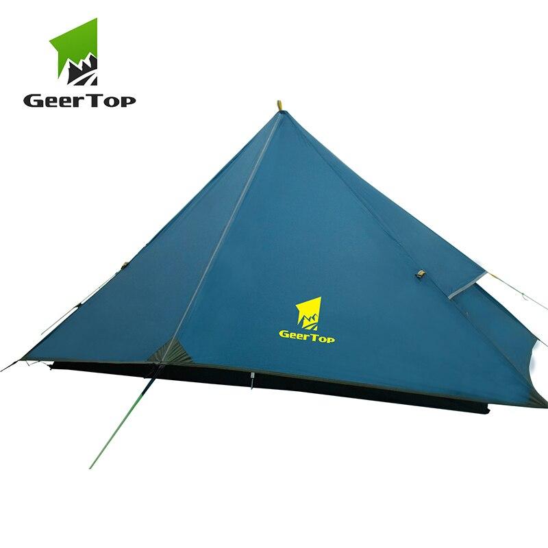 GeerTop 1 Personne 4 Saison Ultra-Léger tente de randonnée Légère Imperméable À L'eau Un Homme tente de camping Voyage En Plein Air T