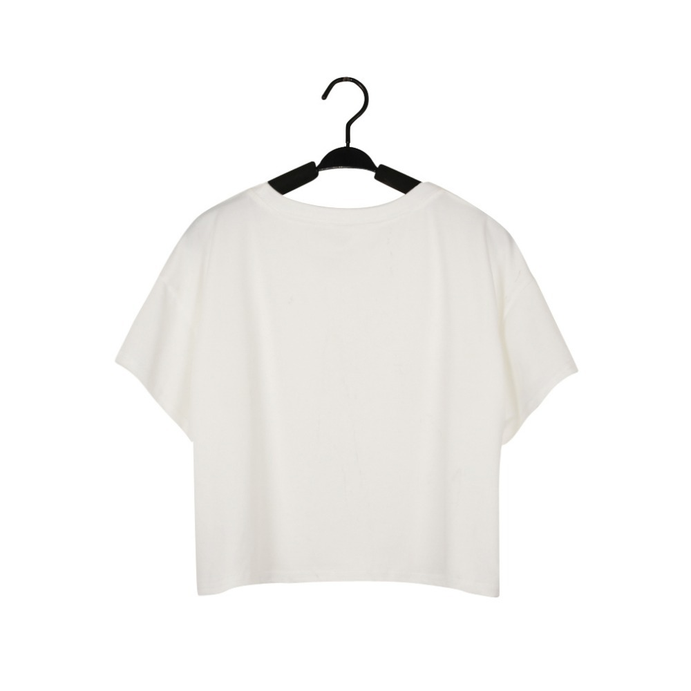 White t shirt crop top - Free Shipping Harajuku 3d Printed Horizontal Three Monkey Crop Top Funny T Shirt White Back Silk Loose O Neck Top Casual Tee Top In T Shirts From Women S