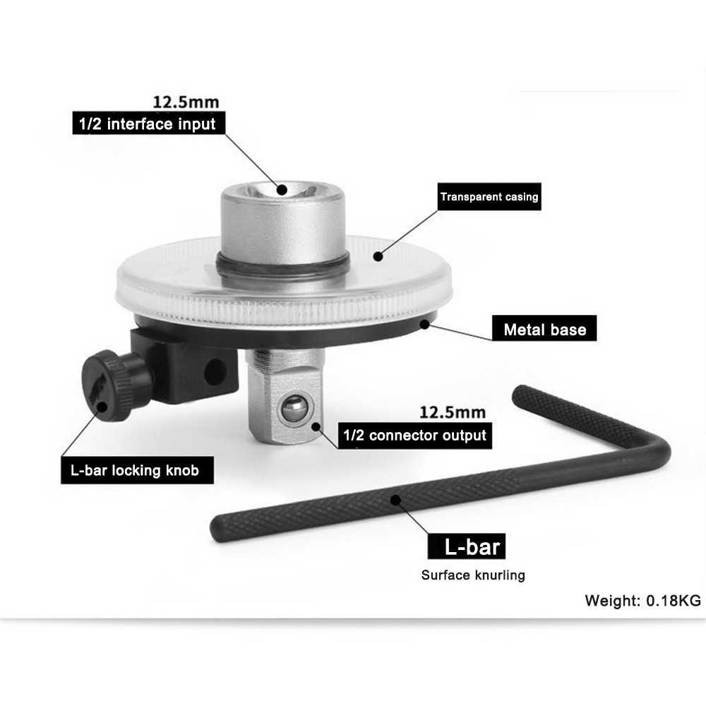 1/2 дюймов Регулируемый приводной датчик угла поворота Авто гаражный инструмент набор для ручного ключа Профессиональный автомеханик DIY Инструменты для ремонта