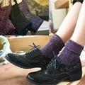 high quality fashion shining socks warm autumn winter thickened knitted thermal women brand long harajuku boot socks christmas