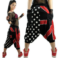 New fashion union Jack Polka dot Harem Hip Hop Dance Pants loose casual Sweatpants Costumes stage performance wear jazz trousers