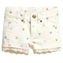 Girls Denim Shorts 2017 Summer Brand Baby Girl Shorts Kids Jeans Character Printed Fashion Children Trousers Short Menina