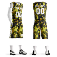 Hoge kwaliteit ontwerp basketbal jerseys Jongens ademende custom basketbal uniformen goedkope college basketbal past DIY set