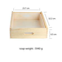 Big Size Rectangle Silicone Soap Mold for DIY Handmade White Mould with Wooden Box