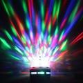 D24 Full Color 3 W E27 RGB LED de Cristal Giratoria Luz de la Etapa Bola Mágica efecto de Luz del disco de DJ del partido de danza