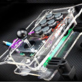 2015 new Computer PC USB crystal transparent arcade joystick street fighting gamepad game controller joypad, free shipping