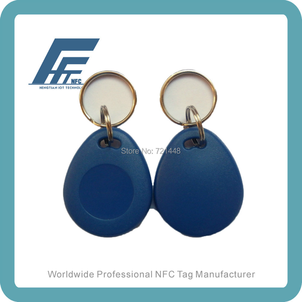 100pcs RFID keyfob tags Available For All NFC Phone Ntag213 Blue ABS Waterproof NFC Keyfobs waterproof nfc tags lable ntag213 13 56mhz nfc 144bytes crystal drip gum card for all nfc enabled phone min 5pcs