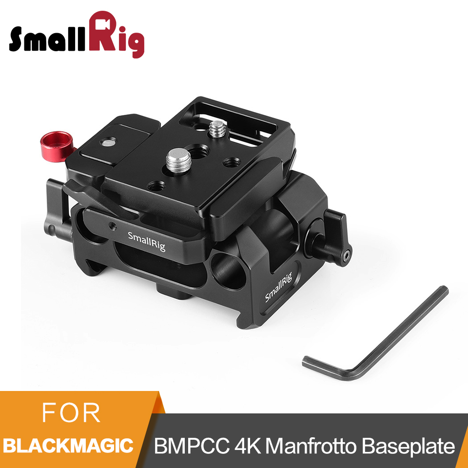 SmallRig Baseplate Kit With 15mm Rail Clamp for Blackmagic Design Pocket Cinema Camera BMPCC 4K Manfrotto