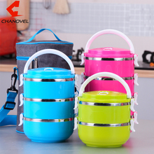 CHANOVEL Korean Stainless Steel Bento for Kids Colorful Thermal Food Container font b Lunch b font