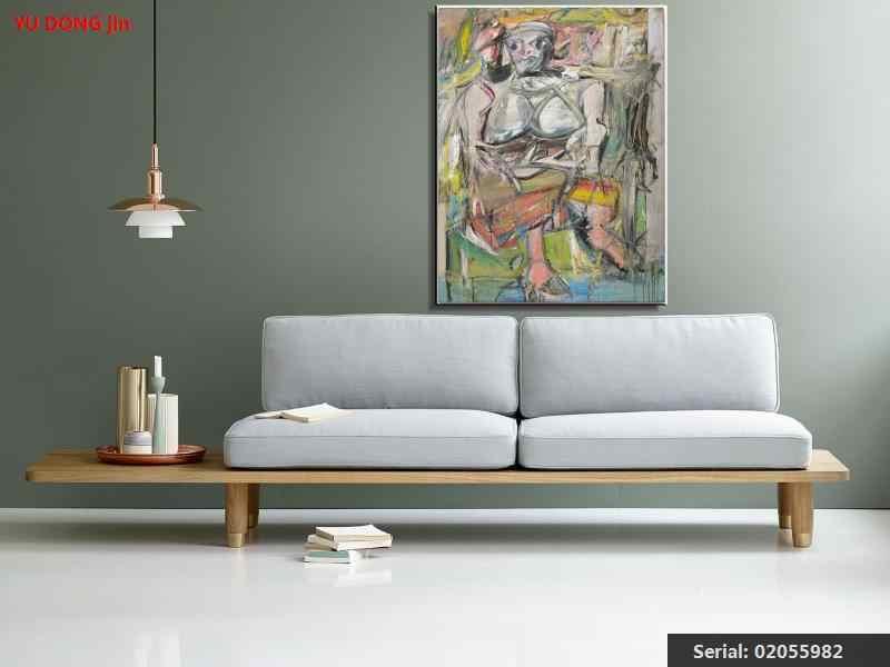 William de Kooning nature morte classique peinture à l'huile dessin art Spray sans cadre toile paysage handmade02055982