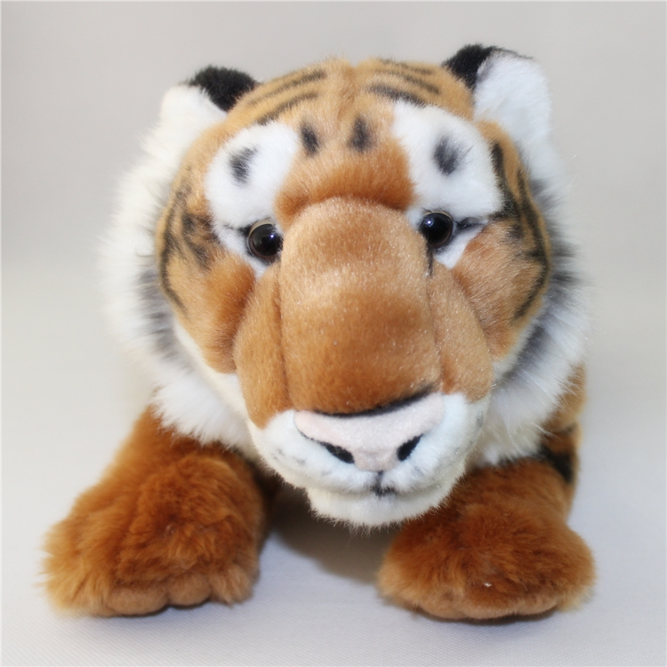 Big Toy Children Pillow Simulation Stuffed  Plush Animals Toys Yellow Tiger Doll Birthday Gifts lovely tiger plush toys white tiger toy stuffed tiger doll cute small white tiger pillow birthday gift 30cm