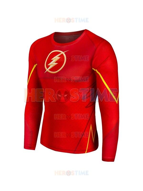 Rouge le Flash 3D motif super-héros séchage rapide super-héros Costume