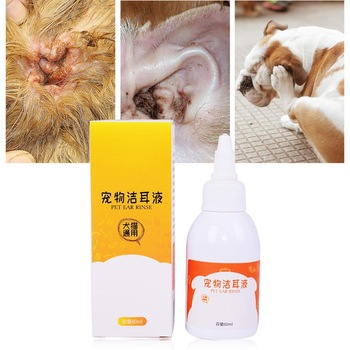 Cat Dog Ear Cleaner Pet Stain & Odor Removers Effective Keep Ear Health Controlling Against Mites Prevent Pet Ear Disease Odor