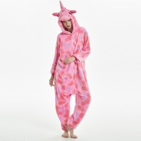 warm Kigurumi long sleeve hooded unicorn pajamas Flannel sleepwear pyjama licorne femme Cartoon animal unicornio adult pajamas