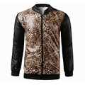 Men's Casual Jackets 2016 Spring Autumn Hooded Men Leopard Printed Slim Fit Men Patchwork Baseball Zipper Camouflage Coats Py52