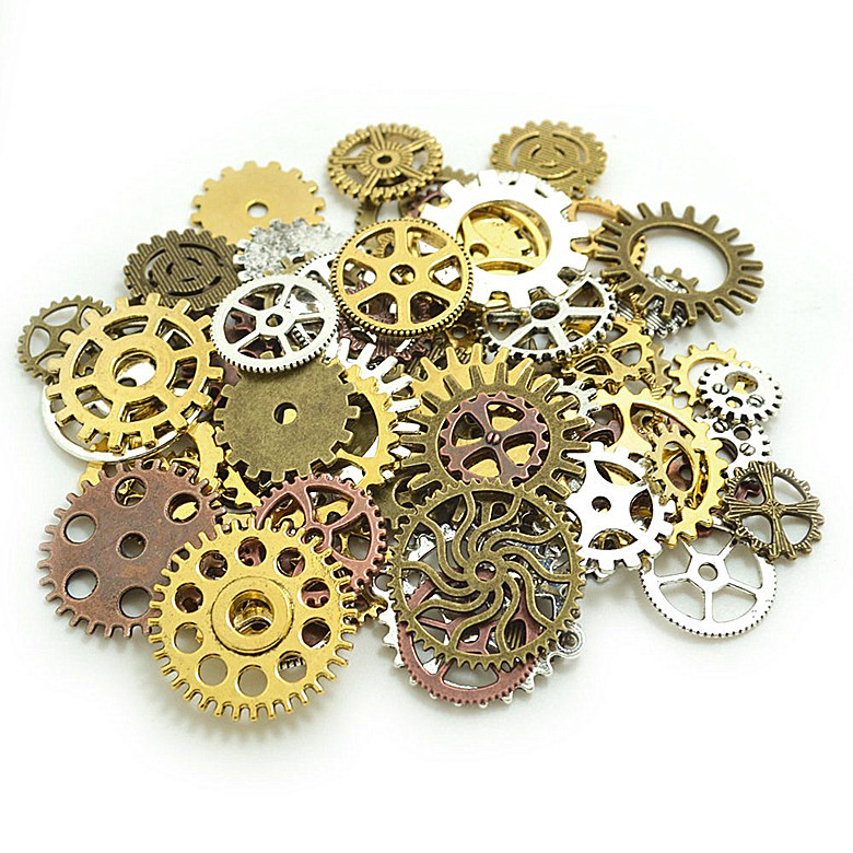 100g/bag Vintage Alloy Parts Steampunk Jewellery Diy Christmas Drop Art Crafts Cyberpunk Cogs Gears For Viewing S08 Drop Ship Suitable For Men And Women Of All Ages In All Seasons Diamond
