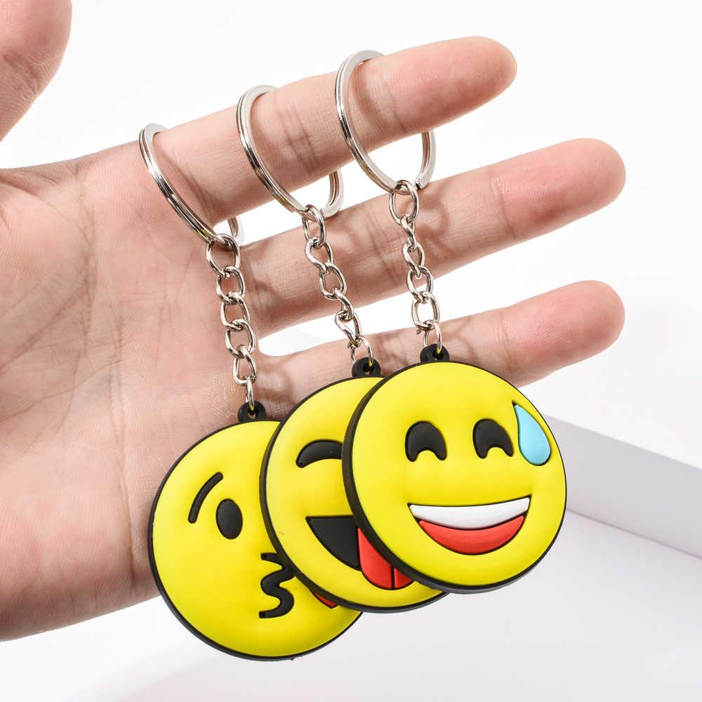 Vicney Chegada Nova Emoji Legal Chaveiro rindo Mostrar o amor Emoji Chave Suporte Cadeia Atacado Bonito Titular da Chave Para Melhores Amigos