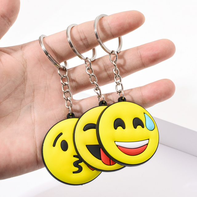 Vicney New Arrival Emoji Keychain Cool laughing Show love Emoji Key Chain Support Wholesale Cute Key Holder For Best Friends 5