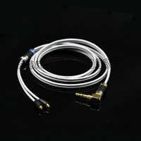 1 2M Pure Silver Headphone Upgraded Audio Cable For SE215 315 535 846 UE DIY