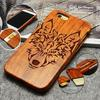 100 Natural Engraved Edge Multi Pattern Wood Bamboo Celular Case For Apple Iphone 7 7 PLUS
