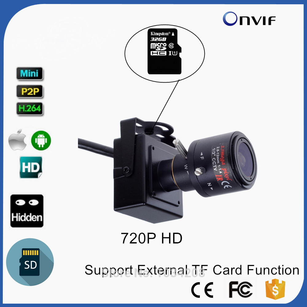 2.8-12mm Varifocal Lens CAMHI 720P TF Card Support Mini IP Camera For Home Security IP Kamera Indoor Security CCTV Cam audio 2 8 12mm zoom manual lens 720p micro tf sd card slot mini ip camera onvif for home indoor security cctv ip kamera