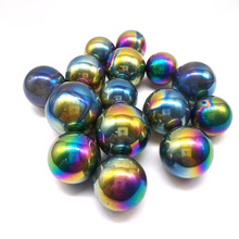 12pcs Beautiful Color Titanium Flame Aura Fume Plated Quartz Crystal Sphere Ball Healing цены онлайн