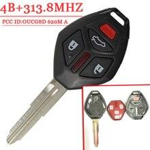 3 + 1 Кнопки Дистанционного Ключа Для 2007-2012 Для Mitsubishi Eclipse Galant FCC: OUCG8D-620M-A