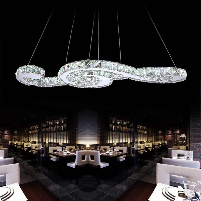 Symboles musicaux en verre cristal de luxe moderne Led K9 allumant des luminaires suspendus pour le Luminaire de décor à la maison de salon d'hôtel