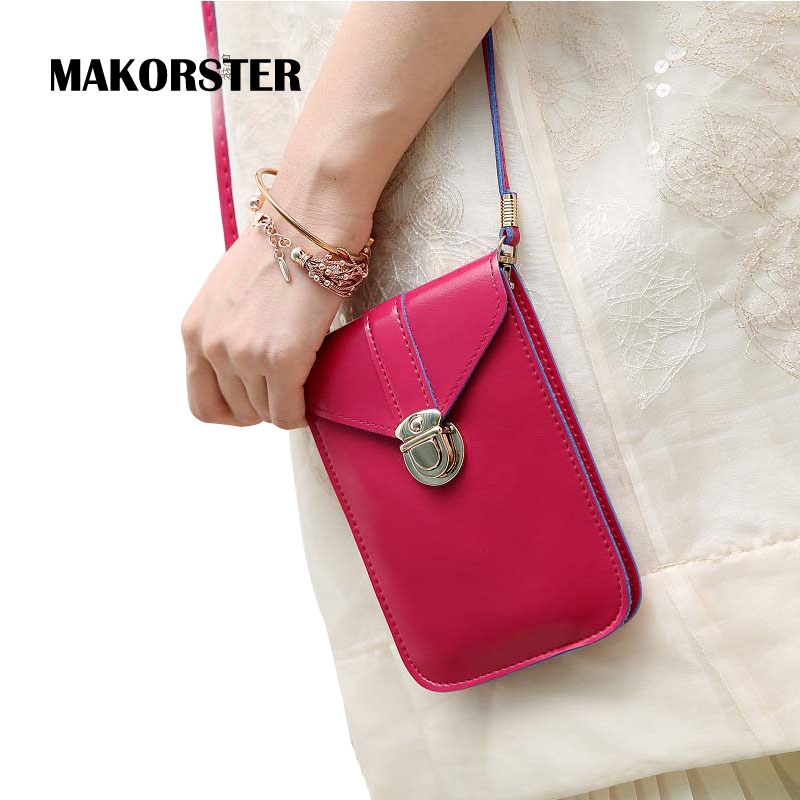 MAKORSTER Women Shoulder Bags PU Leather Crossbody messenger Bag Small Gift Luxury Hasp mini Handbags Famous Brands female New