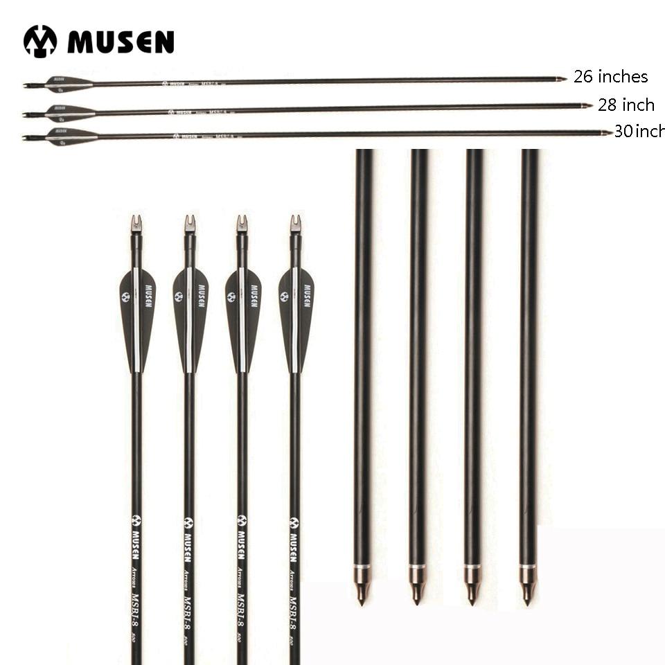 US Fiberglass Arrow 26/28/30 Inches Spine 500 Diameter 8mm Plastic Feather 6/12/24/36 Pcs For Recurve/Compound Bow Archery