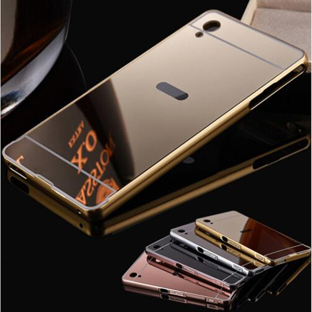 the latest 2b867 03f94 US $3.29 34% OFF|Fashion Luxury Rose Gold Mirror Case For Sony xperia Z3  L55u L55t D6603 D6643 D6653 shell Back Cover For Sony Xperia Z3 cases-in ...