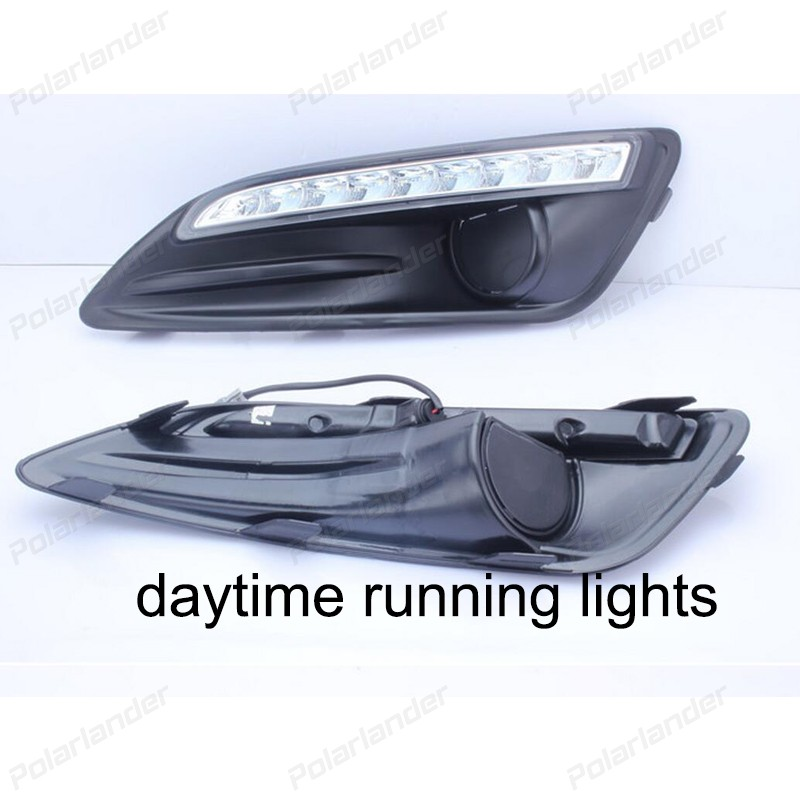Daytime running lights Car styling for F/ord f/iesta 2013-2015 2 PCS AUTO ACCESSORY 2 pcs auto accessory drl for f ord k uga or e scape 2013 2015 car styling daytime running lights