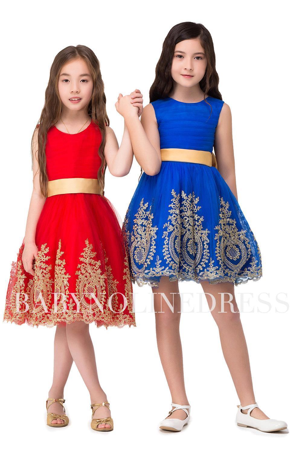 Cheap red a line knee length flower girl dresses 2017 lace appliques cheap red a line knee length flower girl dresses 2017 lace appliques royal blue girls pageant dresses with bow o neck in flower girl dresses from weddings izmirmasajfo