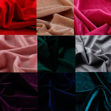 Velvet Fabric Cloth Gorgeous Silky for Dress Clothes Luxury Soft 50cm*150cm Home Textile Curtain