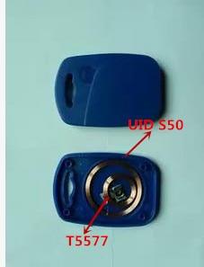 IC+ID UID Rewritable Composite Key Tags Keyfob (125KHZ T5577 RFID+13.56MHZ UID Changeable MF S50 1K NFC ) 5pcs ic id uid 13 56mhz changeable writable rewritable composite key tags keyfob dual chip frequency rfid 125khz t5577 em4305