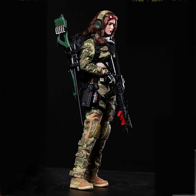 Mnotht FS-73015 1/6 War Angel Camouflage Angela Jacket Trousers Suit Female Shirt Set Model Toy for 12in Soldier Action Figure b russian airborne vdv 1 6 female soldier action figure model set dam 78035 natalia
