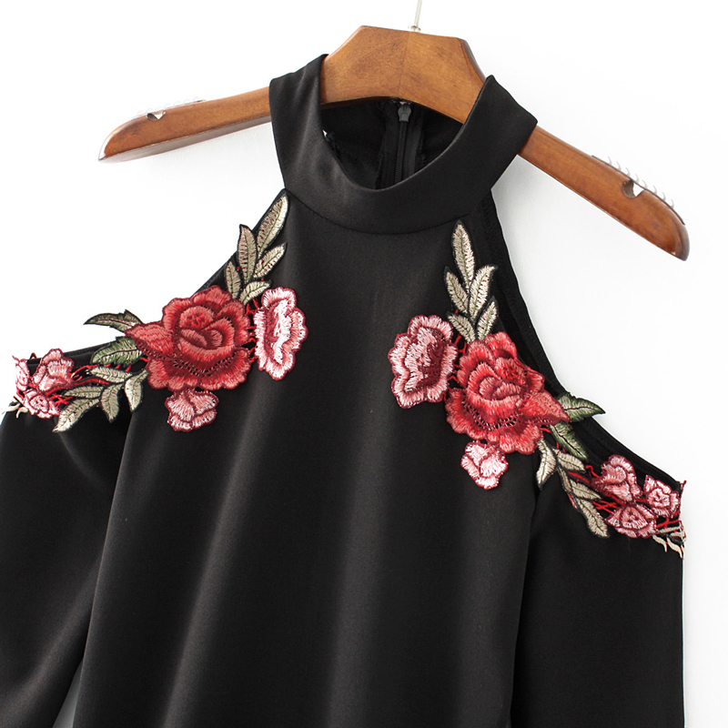 ef53b8e3eb4 Sexy Red Rose Flower 3D Appliques Embroidery Spaghetti Strap Sheath Velvet Dress  Vintage Woman Package Hips Dresses Black JZ156-in Dresses from Women s ...