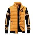 Los hombres de otoño/invierno de algodón acolchado ropa 2017 de los hombres de negocios y de ocio de la manera delgada chaqueta de algodón capa caliente 807