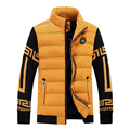 Men's autumn/winter cotton-padded clothes 2017 men's fashion business and leisure travelers thin cotton jacket warm coat 807
