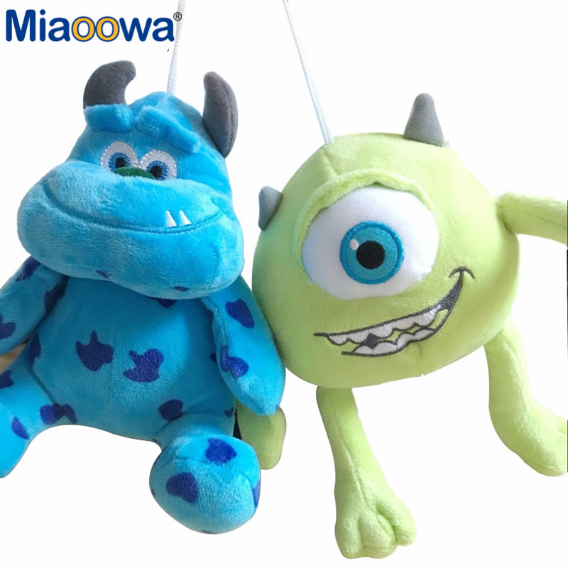 1pc 20cm Monsters Inc Monsters University Monster Mike Wazowski or James P. Sullivan plush toy for kids gift 2016new brand cartoon beanie monsters sulley mike inc sullivan sully plush hat cute cap soft kid toy birthday gift for children