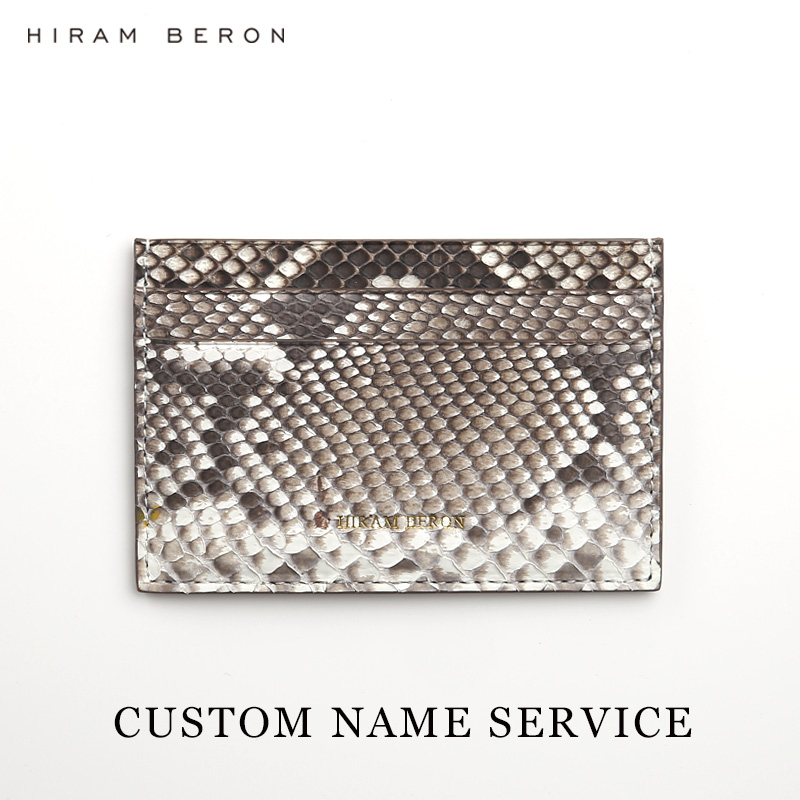 Hiram Beron CUSTOM NAME FREE Snakeskin wallet case credit card holder luxury wallet python skin holiday gift 100% real genuine authentic snake skin men s bifold python snake wallet credit card money cash holder and case black free ship
