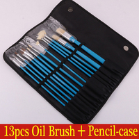 Blue Artist Paint Brush Set Watercolor Acrylic Oil Painting Brushes Drawing Art Supplies
