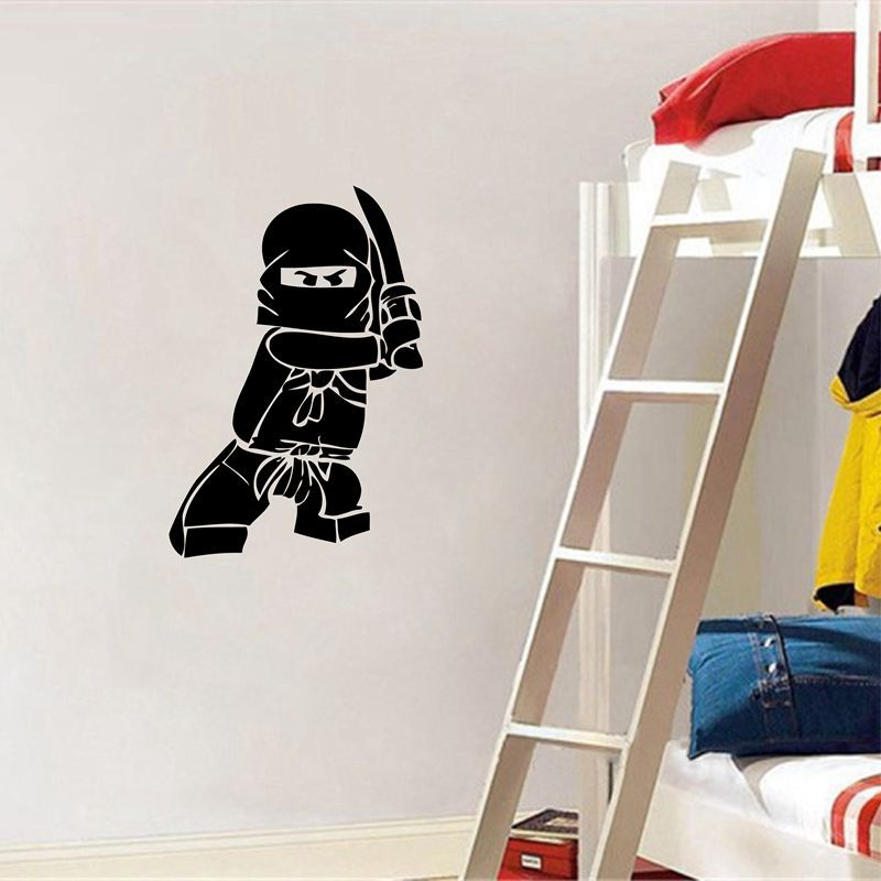 купить Compatible Legoings Ninjago Lloyd Stickers Muraux Party 2018 New Ninjago Stickers Muraux Sticker and Decal on the wall Kids Room по цене 284.23 рублей