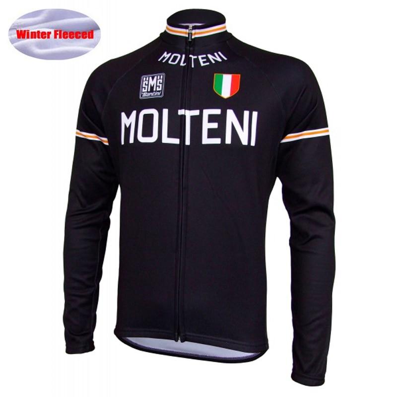 Men Cycling Jersey 100% Cashmere Winter Fleece Long Sleeve Women Jersey/Cycling Clothing Black