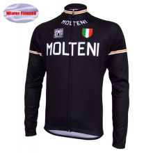 Men Cycling Jersey 100% Cashmere Winter Fleece Long Sleeve Women Jersey/Cycling Clothing Black